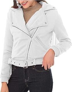 Women Oblique Zipper Slim Fit Jacket Long Sleeve Blouse Coat Sweatshirt