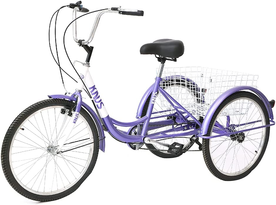 Adult Tricycle Trikes 7 Speed Three-Wheeled Bike Credence 26 Alternative dealer Inch Crui 24