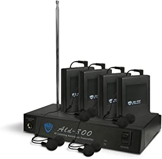 $339 » Brand New Nady Ald-800 Bb Assistive Listening System, Includes 4 Wireless Ear Buds, 4 Receivers, Transmitter, Power Supply...
