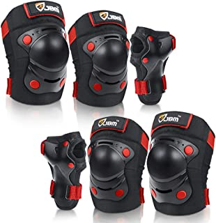 JBM Children Kids Sport Outdoor Protective Knee and Elbow Pads with Wrist Guard for Street Bicycle, Ride Bike, Cycling Inl...