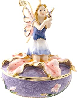 Fairy On Lilly - Fairy Jeweled Trinket Box By Debby Kaspari 3405