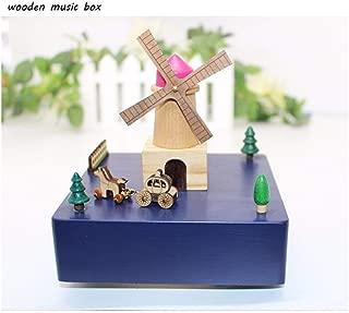 Adorab-MusicBox Wooden Music Box Music Box Crafts Ornaments Gifts Birthday Presents Dutch Windmills