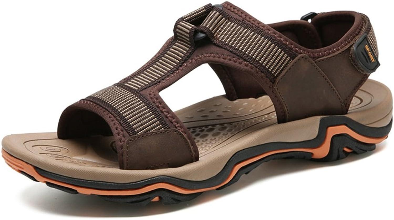 204870c9a7c Men's Sandals Leather Summer Beach shoes Outdoor Large Size Men's ...