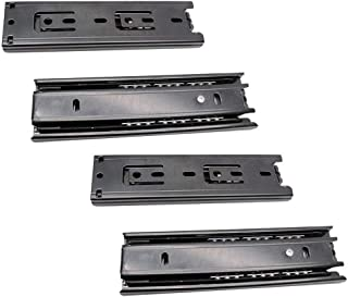 BTMB 6 inch Drawer Slides Ball Bearings for Cabinet, Side Mount (Black) 2 Set
