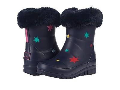 Joules Kids Chilton Lined Rain Boots (Toddler/Little Kid/Big Kid) (Navy Stars) Girl