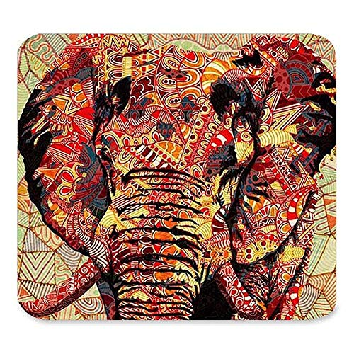 Aztekischer Elefant Bild einzigartige benutzerdefinierte Rechteck Mauspad, Gaming Rutschfeste Gummi Mousepad Mat