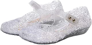 iFANS Toddler Girls Princess Jelly Sandals Kids Mary Jane Dance Party Shoes