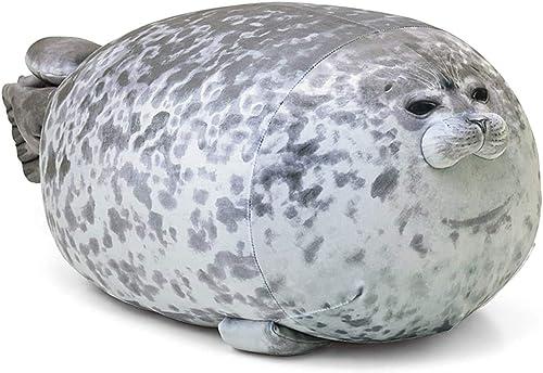 MerryXU Chubby Blob Seal Pillow,Stuffed Cotton Plush Animal Toy Cute Ocean Pillow Pets Small(13 in)