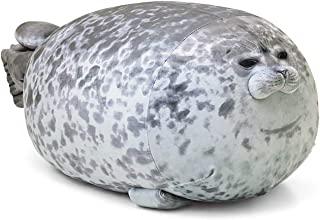 MerryXU Chubby Blob Seal Pillow,Stuffed Cotton Plush Animal Toy Cute Ocean Pillow Pets Small Grey