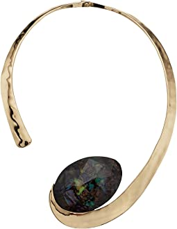 Robert Lee Morris - Abalone and Gold Collar Necklace
