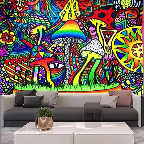 Tapiz de mandala indio de bosque, montaje en pared, decoración Boho, tapiz de brujería Hippie, manta para colgar, tela A1 180x230cm