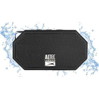 Altec Lansing® IMW257-BLK Mini H2O - Altavoz Bluetooth Impermeable, IMW257-BLK, Negro, 2.00 x 4.50 x 5.00 Inches