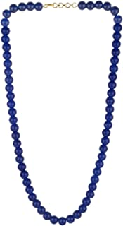 Archi Collection Handcrafted Single Line Blue Crystal/Glass Stone Beaded Strand Statement Necklace/Mala for Women and Girls