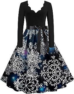 Distinguished Elegant Christmas Dress Women Vintage Printing Boho Polka Dot Long Sleeve Loose Maxi Evening Party Dress Pro...