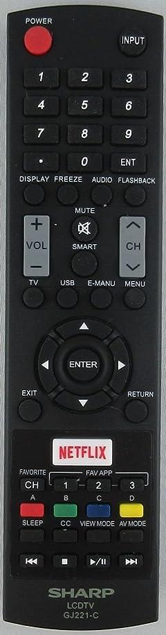 Sharp GJ221-C LED TV Remote for Lc-65le654u Lc-55le653u Lc-48le653u Lc-43le653u vgemo277336250