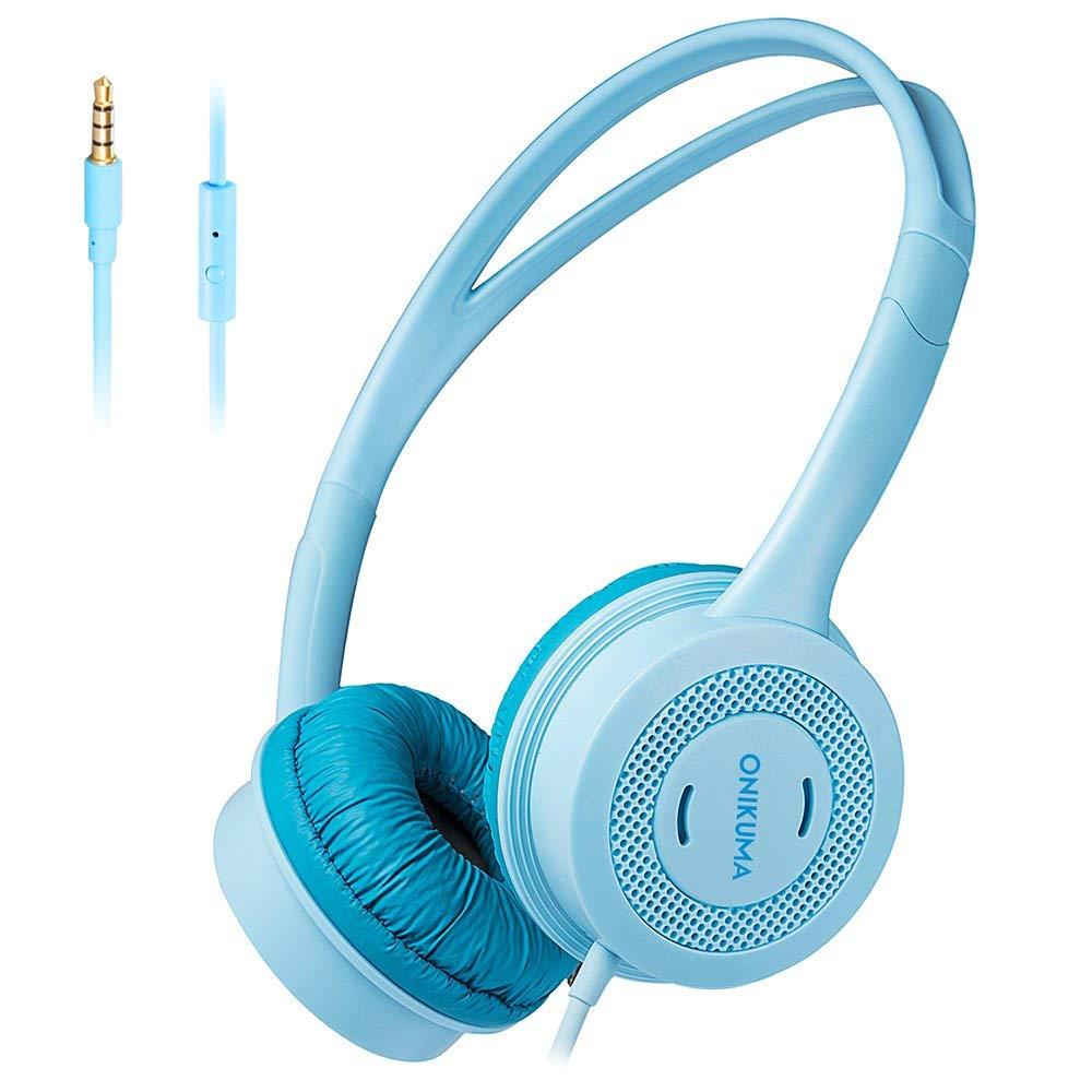 Docooler Onikuma M100 Kids Headphones 3.5Mm Wired On Ear Headset Children Earphone Adjustable Headband W/Microphone 85Db Limited Volume Safe for Kids