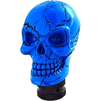 Blue Arenbel Manual Gear Knob Pattern Skull Style Shifter Knobs Lever Shifting Shift Head fit Most Transmission Cars