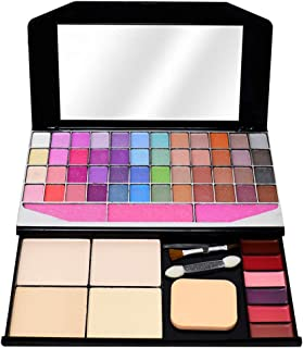T.Y.A GOOD CHOICE INDIA Makeup Kit, 48 Eyeshadow, 3 Blusher, 4 Compact, 6 Lip Color, (590), 80g With Lilium Hand Cleanser