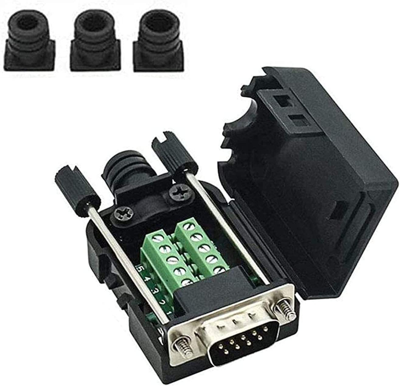 Connector DB9 RS232 D-SUB Male New color Serial 9-pin Adapter Port Free shipping on posting reviews