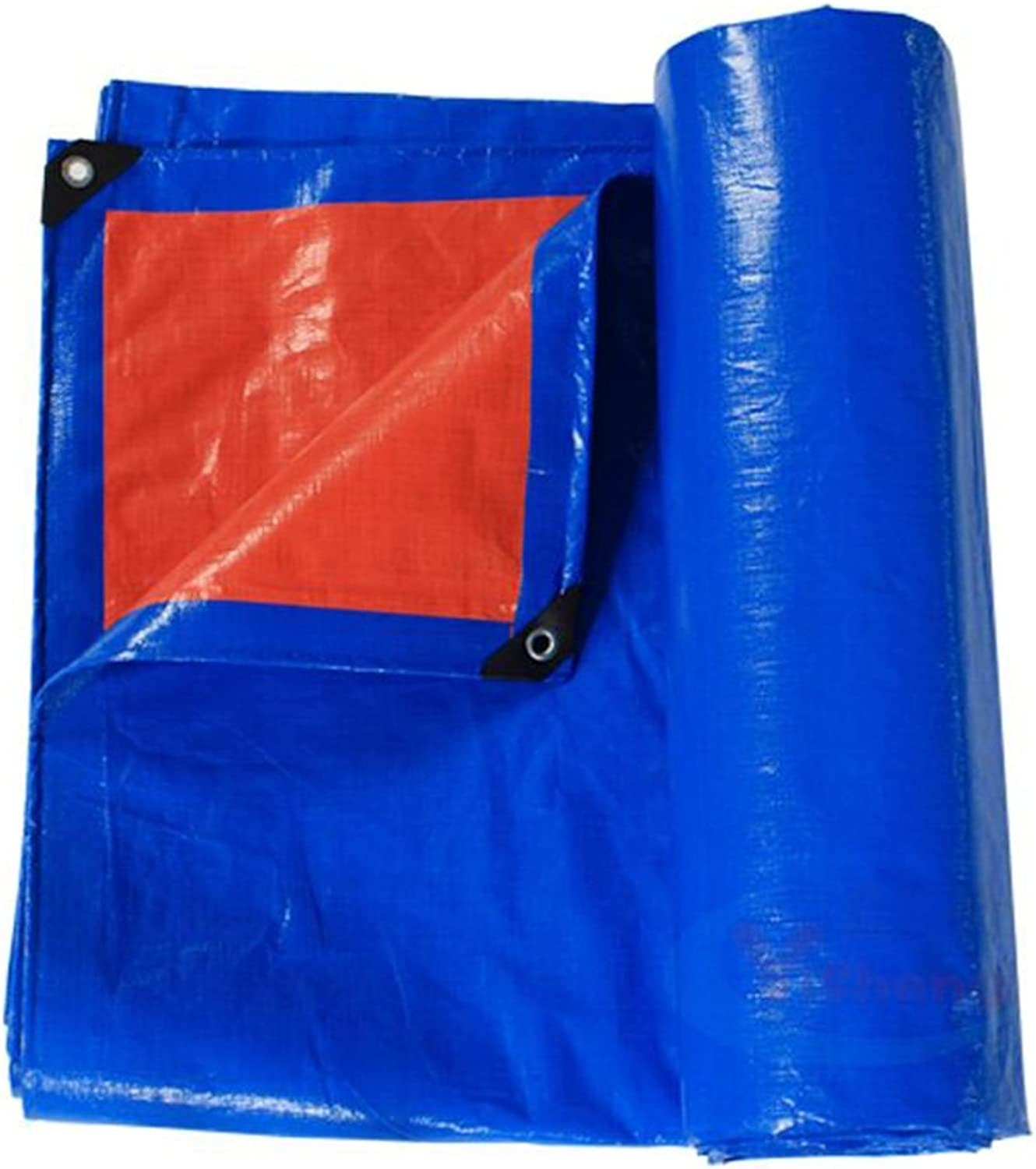 ZEMIN Tarpaulin Sunscreen Waterproof Sheet Tent Roof Windproof Foldable Polyester, blueee, 180G M2, 20 Sizes Available