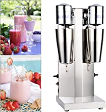 WPUYI 110V 180W Commercial Drink Mixer,Electric Milk Shake Machine Double Head,Milk Shaker Blender Milk Foam Mixer,Stainless Steel,18000RMP