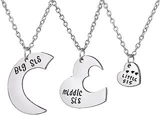 little sister middle sister big sister necklace