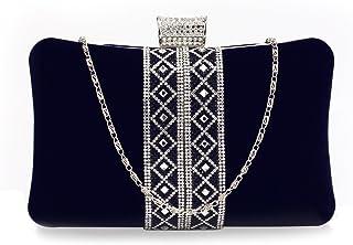 Women's Clutch Purse Sparkly Crystal Evening Velvety Exterior Clutch Bag