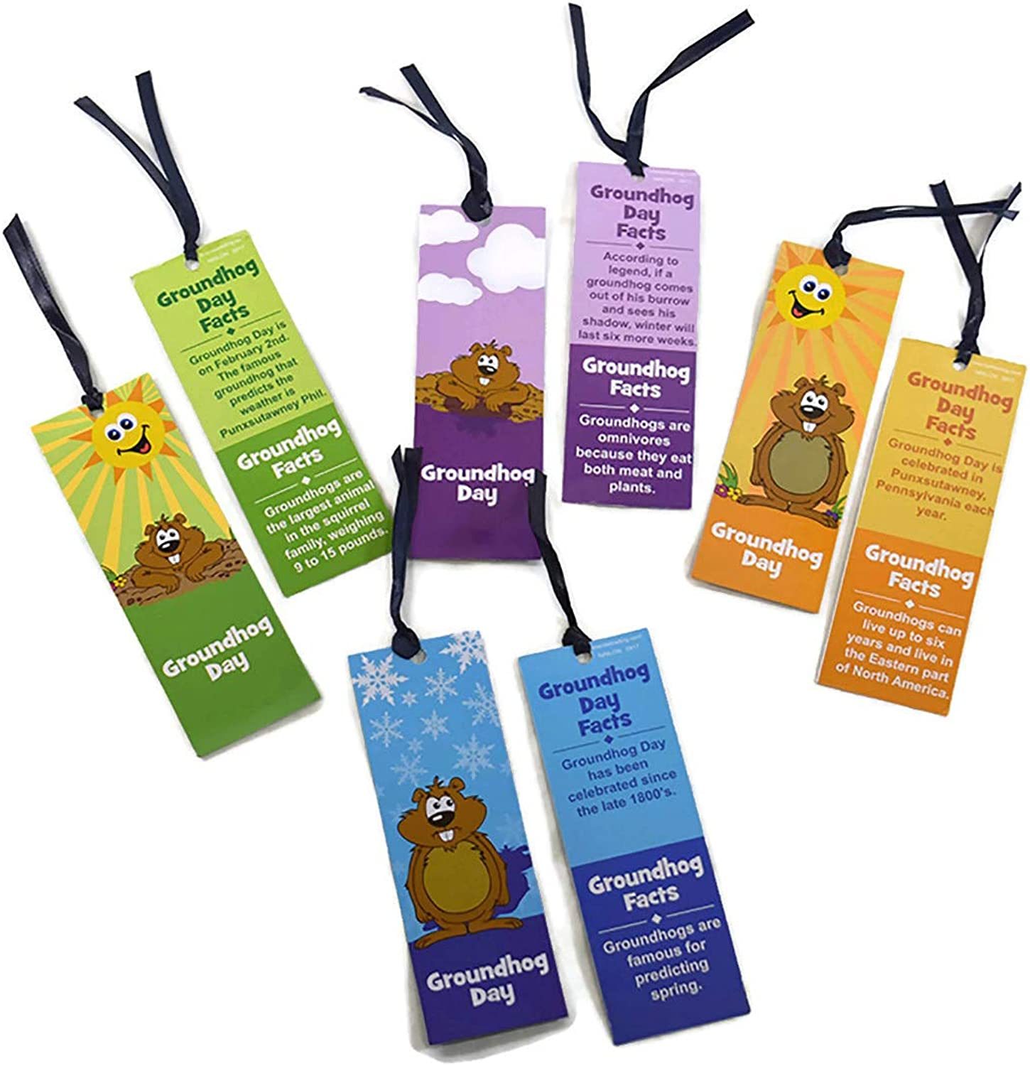 24 Groundhog Day Fact Laminated Bookmarks  New