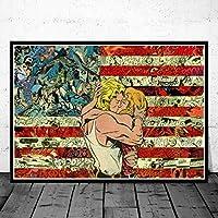 フードキッチンポスターコーヒー野菜壁アートキャンバスプリント絵画装飾画像モダンミニマリストダイニングルーム装飾フレームなし40×60