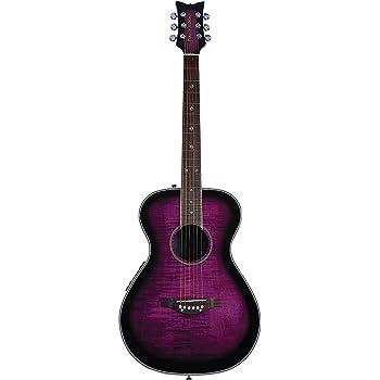 Daisy Rock 6 String Acoustic-Electric Guitar, Right, Plum Purple Burst (DR6222-A-U)