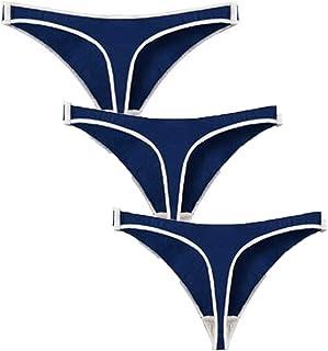 سراويل داخلية للنساء والسيدات ملابس داخلية منخفضة الخصر، سراويل قصيرة مشدودة على الجسم من القطن الناعم على شكل مثلث مجوف ل...