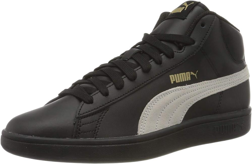 Puma smash v2 mid l, sneaker unisex in pelle 366924