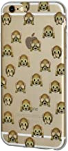 Soft Gel Clear Transparent Emoji TPU Skin for iPhone 6 Plus/6s Plus - See Hear Speak No Evil Monkeys