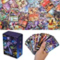 100Pcs Pokemon Cartes Sun & Mood Series 20th Anniversaire Cartes GX Cartes Mega Energy Trainer Cartes (80GX + 5Mega + 15Trainer)