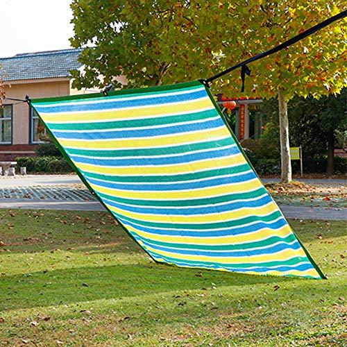 Velas de Sombra Tela De Malla para Sombra Al Aire Libre con Ojales, Cortinas 90% Anti-UV Persianas Toldos para Patio Balcón Pergola Tela de Protección Solar de Cuatro Colores (Size : 4×5m)