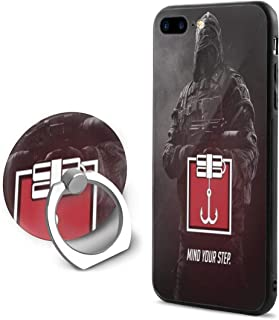 Lemonnnen Rainbow Six Siege Cell Phone Case for iPhone 7/8 Plus with Ring Bracket Black Background