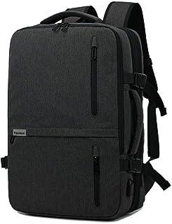 Kroeus 3-way Laptop Backpack Available Hidden Strap Expandable Large Shoulder Bag 15.6 Inch Laptop Computer PC Briefcase Waterproof Business Bag Black