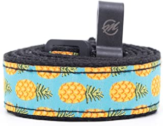 CLOUDMUSIC Pineapple Ukulele Strap with Hook Hawaiian Tropical Design Ukulele Strap no drilling For Soprano Concert Tenor Ukulele (Pineapples in Blue)