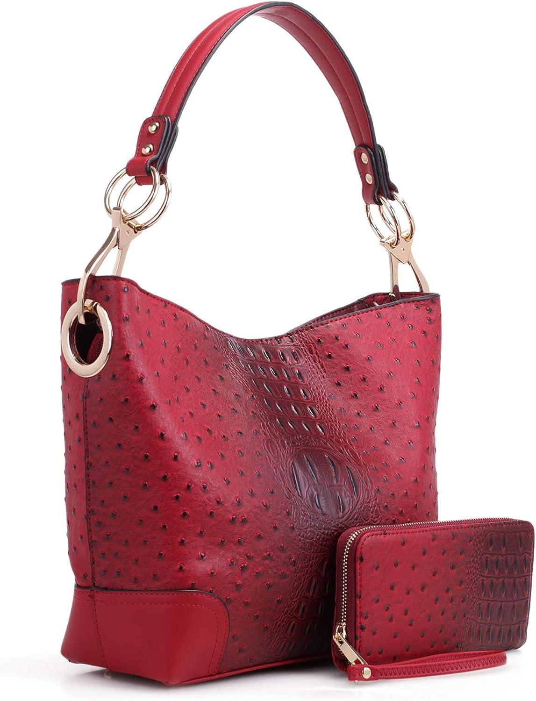 MKF Set Memphis Mall Hobo Bag for Women PU – D Wristlet Leather Wallet Albuquerque Mall