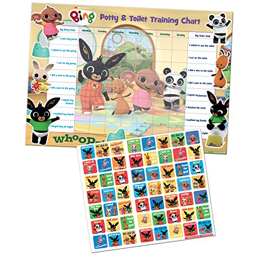 Paper Projects 01.70.30.014 Bing Potty & Training Reward Chart and Stickers