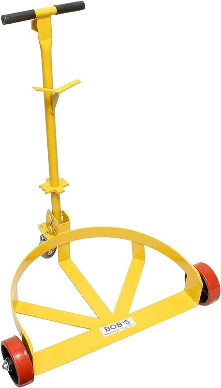 BISupply 55 Gallon Drum Dolly Barrel Wheels Barrel Dolly For 55 Gallon Drum Cart Round Dolly Steel Low Profile 1200lbs