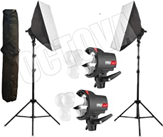 OCTOVA Simpex PRO HD LED TRILITE 3 Soft Led Video Light Softbox Kit with AC Power | YouTube Videos Shooting, Videography, Portrait, Product Photography, Soft Box Studio Lights,Key,Fill,Rim Back Light