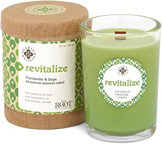 Root Seeking Balance Beeswax Glass Candle, 190ml, Coriander Sage/Revitalise