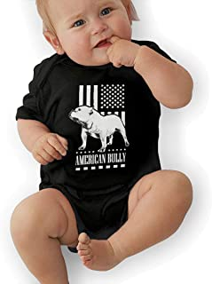 Bodysuit Baby, American Flag Bully Unisex Newborn Infant Bodysuit Baby Clothes