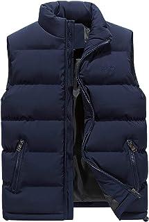 Men Sleeveless Down Puffer Jacket Coat Vest Gilet Zipper Pockets Winter Warm Waistcoat
