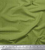 Soimoi Verde seda artificial Tela Botones tela de camisa tela estampada de por metro 56 Pulgadas de ancho