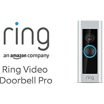 Ring Video Doorbell Pro cablato, con Chime (1ª gen.), video in HD a 1080p, comunicazione bidirezionale, Wi-Fi, rilevazione di movimento | Periodo d'uso gratuito di 30 giorni di Ring Protect Plan