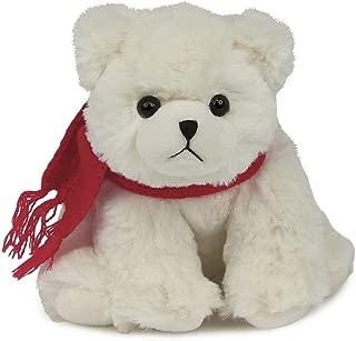 Bearington Frosty Plush Stuffed Animal Polar Bear with Scarf, 6 inches