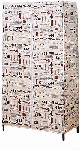 descuento de ventas en línea PTDJY Armario Simple Armario Simple Simple Simple Diámetro de la tubería Armario Simple Refuerzo de Esqueleto Armario Paño para el hogar A Prueba de Polvo Humedad (Color   amarillo)  nuevo sádico