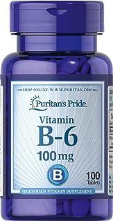Puritan's Pride Vitamin B-6 (Pyridoxine Hydrochloride) 100 mg-100 Tablets